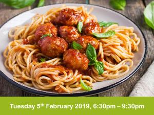 Italian cookery evening class 5-2-19 cheshire