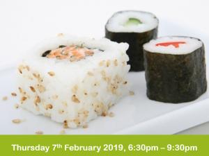 sushi evening class 7-2-19