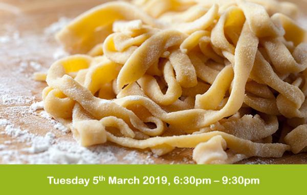 Italian pasta and gnocchi evening cookery
